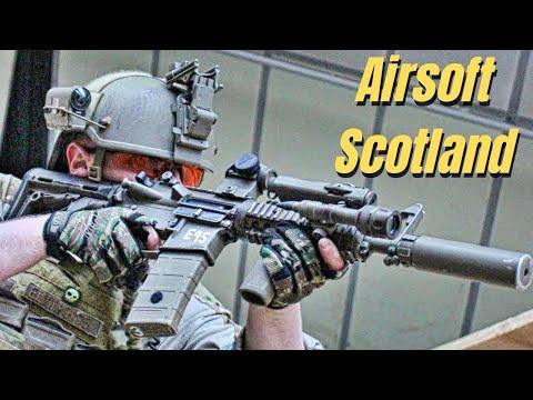 Airsoft War L96 Sniper, M249, M14 Scotland HD