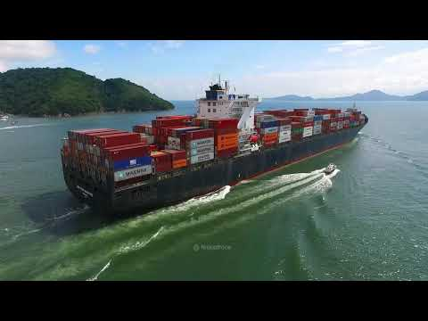 The container-ship Magnitude - Port of Santos City - Brazil