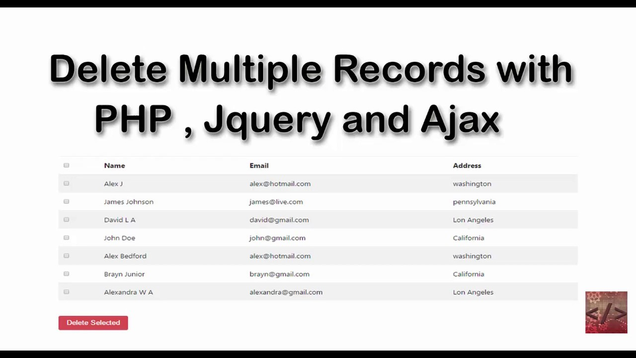 Delete multiple records using checkbox in PHP and MySQL without refreshing  page