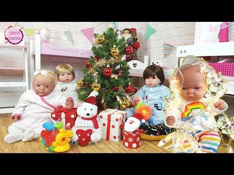 🎄Los bebés Lindea y Ben cantan villancicos y abren los regalos de Papá Noel  🎅
