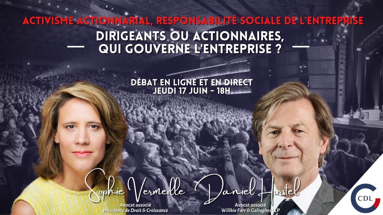 Download Dirigeants ou actionnaires, qui gouverne l'entreprise ? Débat Sophie Vermeille & Daniel Hurstel