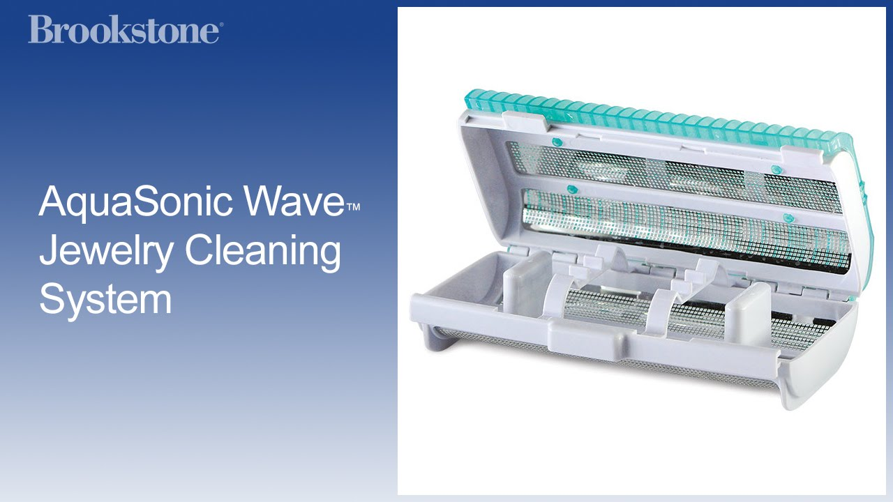 aquasonic wave jewelry cleaning system youtube