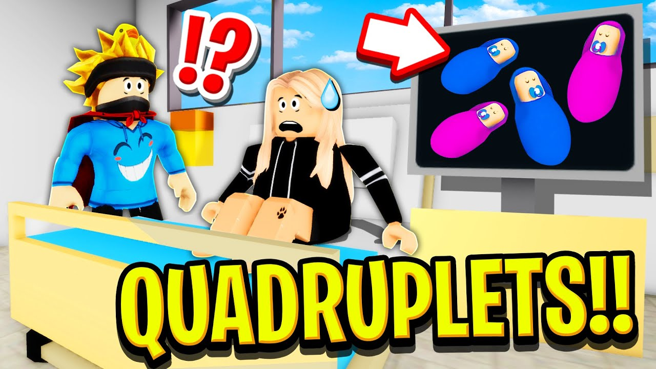 PREGNANT Wife with QUADRUPLETS in Roblox BROOKHAVEN RP!!