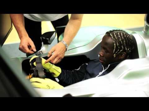 Arsenal's Bacary Sagna Takes The PUMA Formula 1 Challenge