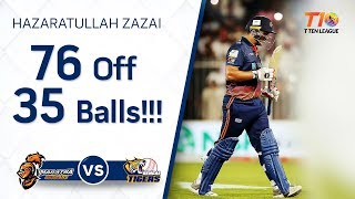 Hazratullah Zazai on fire!!! 76 off 35 balls!!!