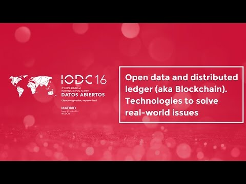 Room F - Open data and distributed ledger (aka Blockchain) - Oct. 7