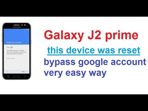 Galaxy Grand Prime+ g532f this device was reset to continue