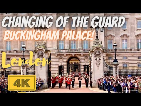 Changing of the Guard Ceremony London in 4K - Royal Buckingham Palace