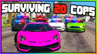 GTA 5 Roleplay - SURVIVING 20 ATTACKING COPS | RedlineRP