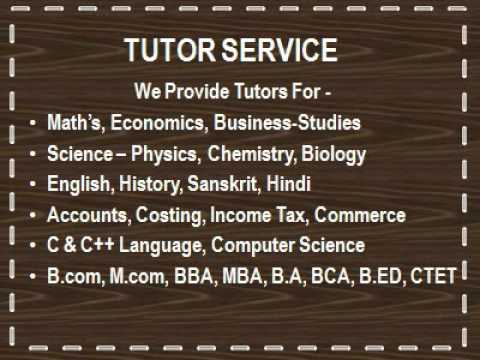 Home Tutor in South Delhi