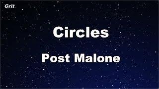 Karaoke♬ Circles - Post Malone 【No Guide Melody】 Instrumental