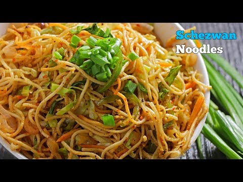 Veg Noodles Recipe in Telugu | Schezwan Noodles | Restaurant Style | Chinese Recipe