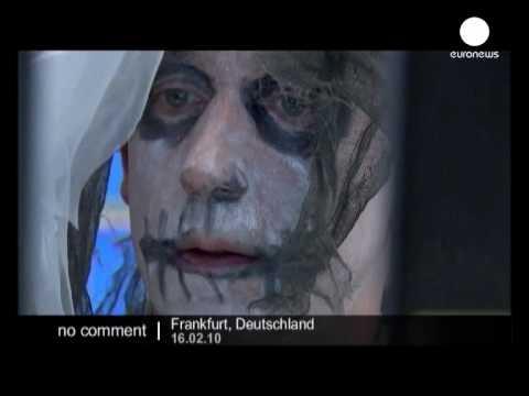 Frankfurt stock Market celebrates Carnival