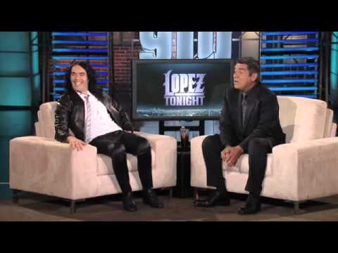 Russell Brand Talks About His Wife Katy, & Talks Spanish W/GLO(pt1)on Lopez Tonight 4-11-11