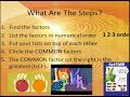 Fractions Lesson 3 GCF Simplifying Fractions