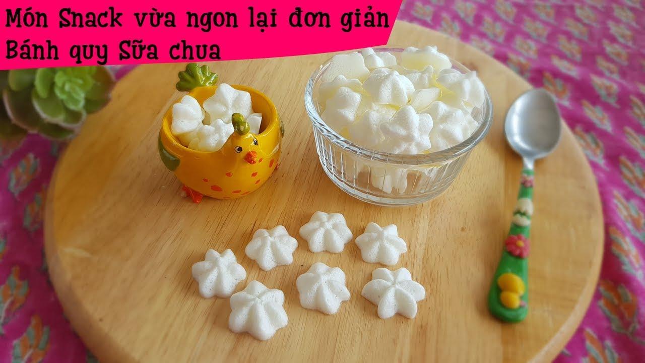 Bánh quy sữa chua giòn tan trong miệng – Món snack dễ làm cho các bé… và cả người lớn