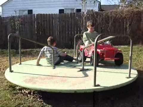 Charmant Backyard Merry Go Round   YouTube