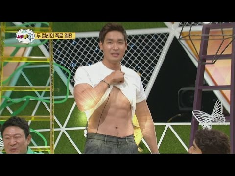 [World Changing Quiz Show] 세바퀴 - Jung kyeo woon has unveiled strong Abdominal muscles 20150710