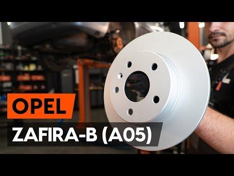 How to change rear brake discs / rear brake rotors on OPEL ZAFIRA-B 2 (A05) [TUTORIAL AUTODOC]