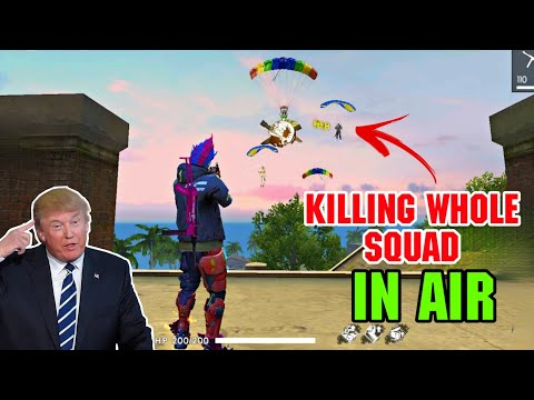 KILLING WHOLE PRO SQUAD IN AIR | DUO VS SQUAD WTF MOMENT 😂 ||FREEFIREGameplay