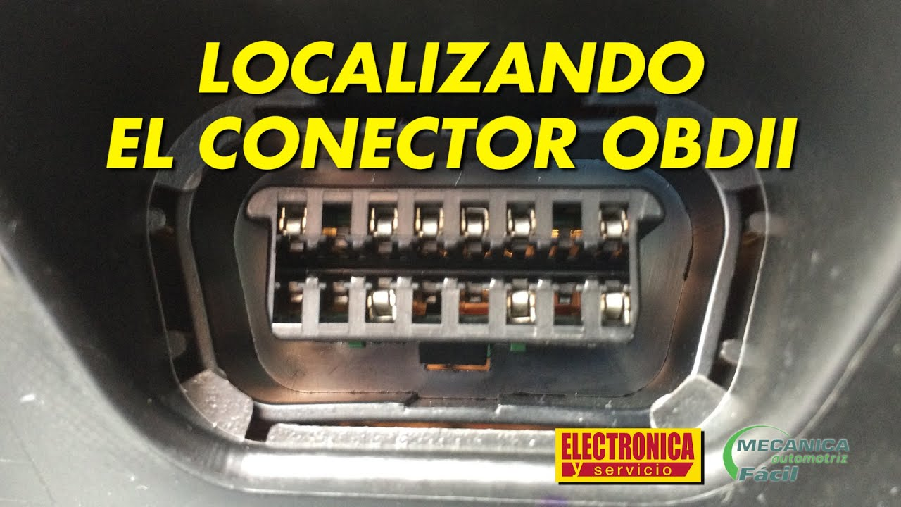 Localizando El Conector Obdii Youtube
