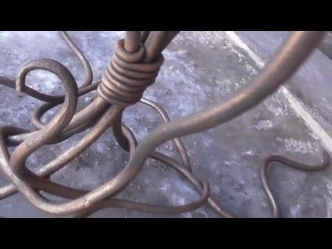 Холодная ковка кованая подставка для цветов своими руками патина
