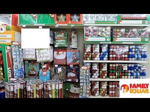 CHRISTMAS ITEMS AT FAMILY DOLLAR (SO FAR) - CHRISTMAS SHOPPING ORNAMENTS DECORATIONS HOME DECOR