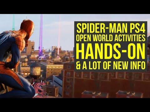 Spider Man PS4 Demo Hands-On Shows FULL MAP, Open World Activities & More (Spiderman PS4 Gameplay)