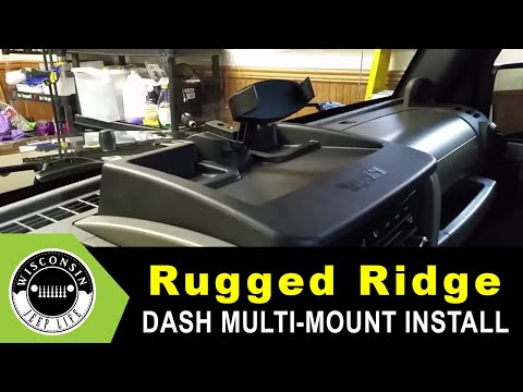 Rugged Ridge 13551.17 Dash Multi-Mount Phone Kit Install - 2009 Jeep Wrangler
