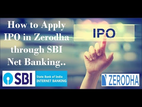 HINDI : How to Apply IPO Online in Zerodha through SBI Net Banking | Godrej Agrovet IPO Live Example