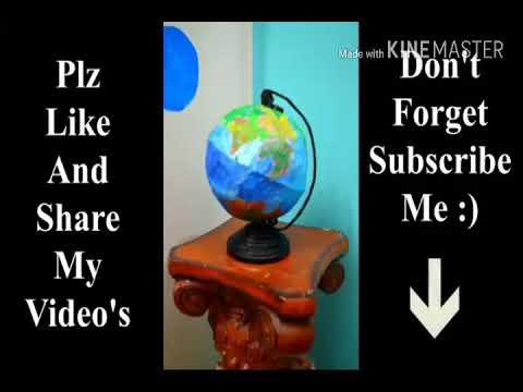How to make a globe in newspaper in diy