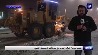 الثلوج تتساقط في عجلون - (6-1-2019)