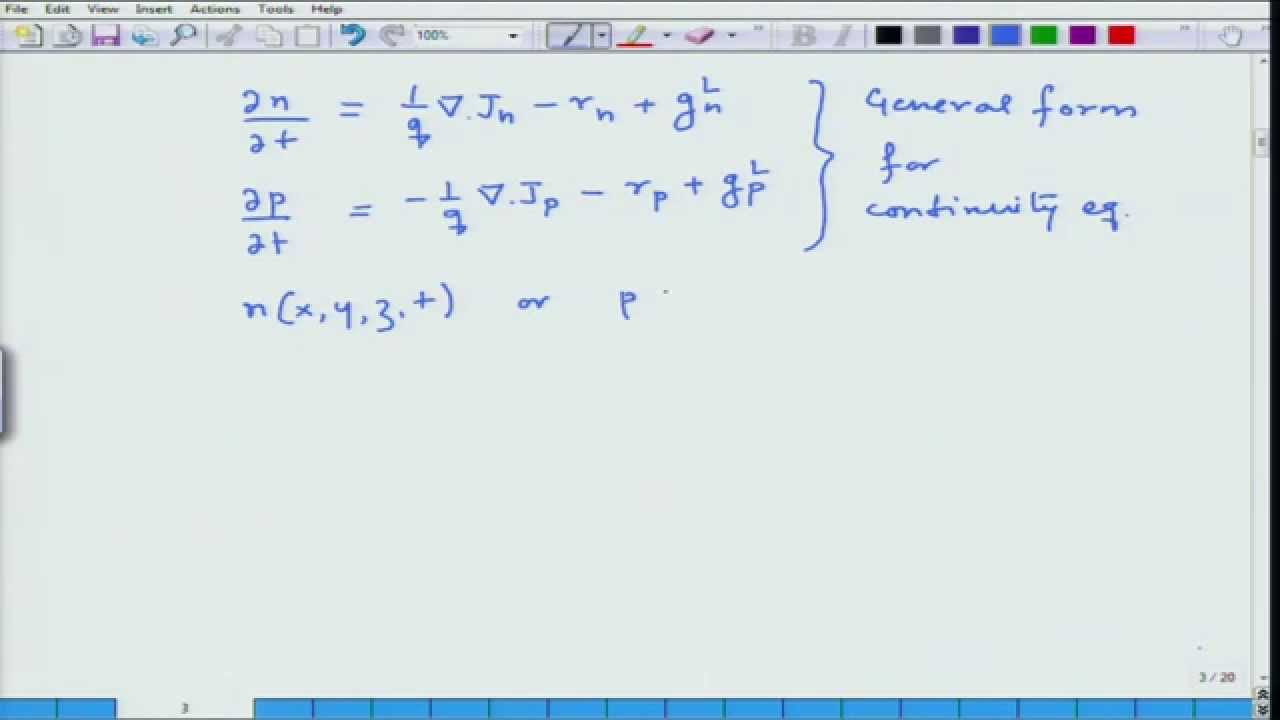 Mod-03 Lec-30 Continuity Equation