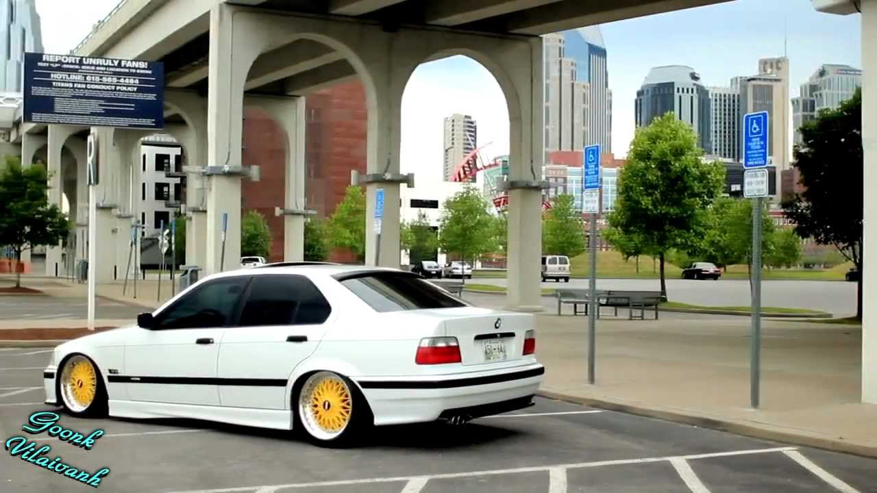 Static Slammed E36 White And Yellow Edition Youtube