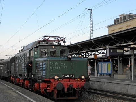 Letzte Fahrt von E 94  254 052 / Im Führerstand von Riesa nach Döbeln