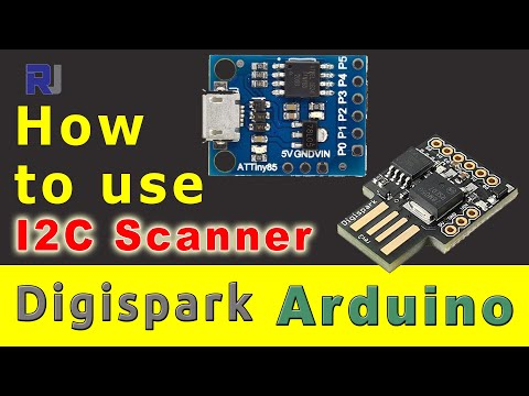 How to use I2C Scanner with Digispark to find I2C address