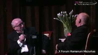 X Forum Humanum Mazurkas-dyskusja Andrzeja Bartkowskiego z Bohdanem Łazuką z koncertu w MCC