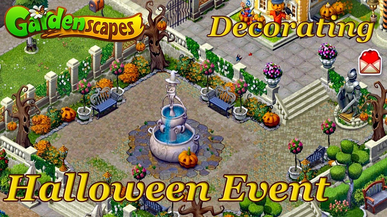 Is There A 2020 Halloween Collection Event Happening On Gardenscapes GardenScapes New Acres Halloween Event Decorating   YouTube