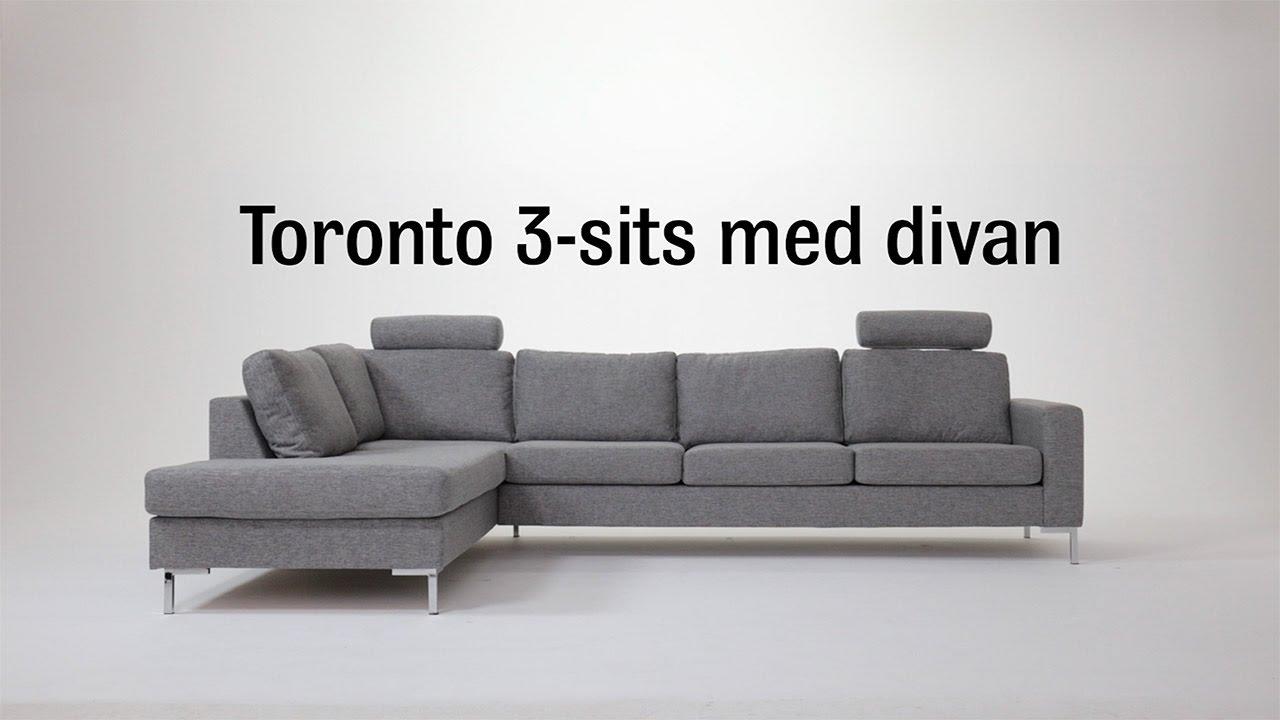 Soffa Toronto 3 Sits Med Divan, Mio Youtube