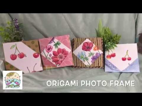 フォトフレーム 作り方 【折り紙方式】 Origami Photo Frame   Doovi
