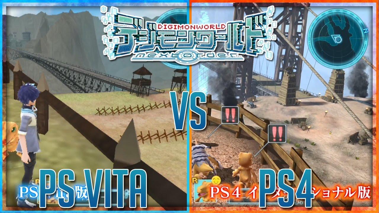 PS4 vs PS Vita Comparison | Digimon World: Next Order ...