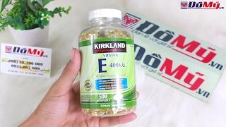 Trên Tay Viên Uống Vitamin E 400 IU Kirkland Giúp Đẹp Da, Chống Lão Hóa - Đồ Mỹ .vn - domy.vn