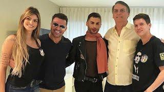 Junto ao Agustin, famoso maquiador homossexual, Bolsonaro DESMENTE FALSOS RÓTULOS em bate-papo