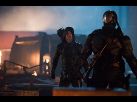 DC's Legends of Tomorrow Review Star City 2046 Black Arrow, One Armed Oliver with Goatee