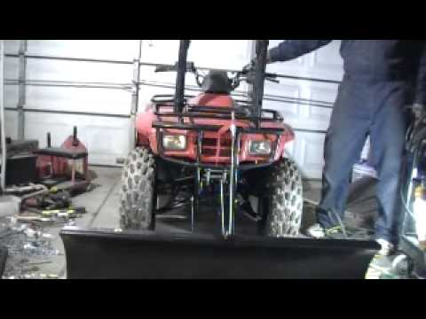 Honda Recon Home Made Plow And Harbor Freight 3000 Winch