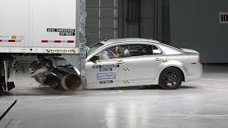 Vanguard semitrailer underride guard test - IIHS TOUGHGUARD winner