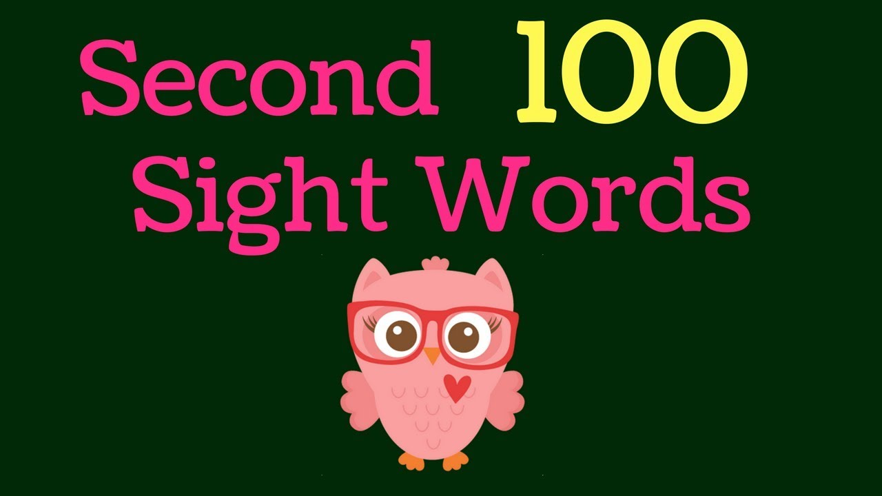 Second 100 Sight Words - First Grade - Sight Word Flashcards - High ...
