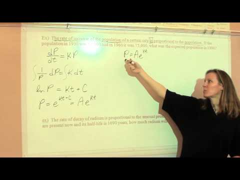Price AP Calculus AB, 6-2 part 1 - Exponential growth and decay