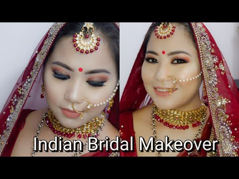 Indian Bridal Makeover ||| Traditional Bride || monolid eyes #Indianbridal #makeover #makeupartist