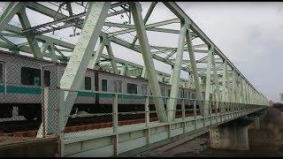各駅停車下り、E233系2000番台、利根川渡河。バイノーラル録音+αMk3.1 thumbnail